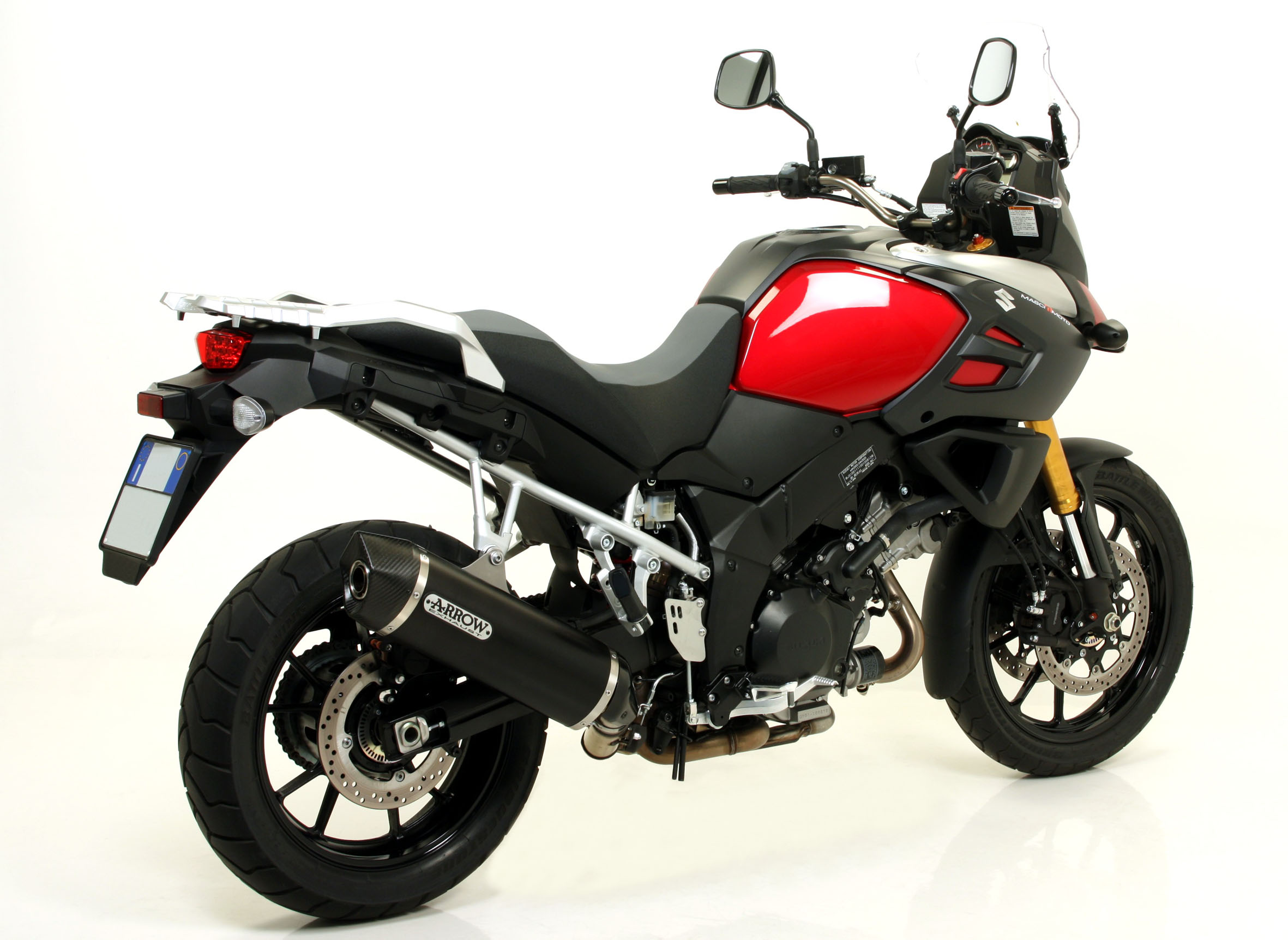 arrow releases exhaust for new v strom 1000 a pair of stroms. Black Bedroom Furniture Sets. Home Design Ideas