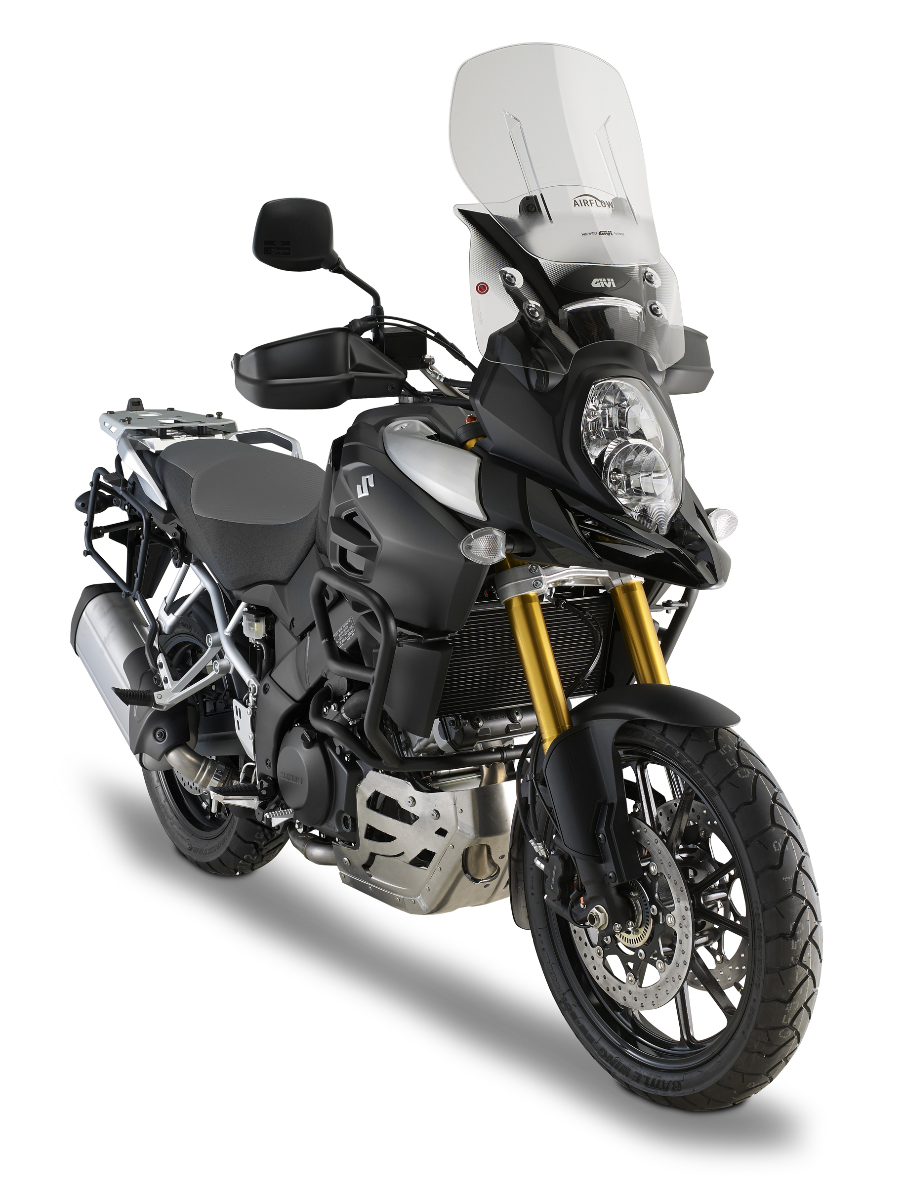 givi release photos of v strom 1000 2014 accessories a pair of stroms. Black Bedroom Furniture Sets. Home Design Ideas