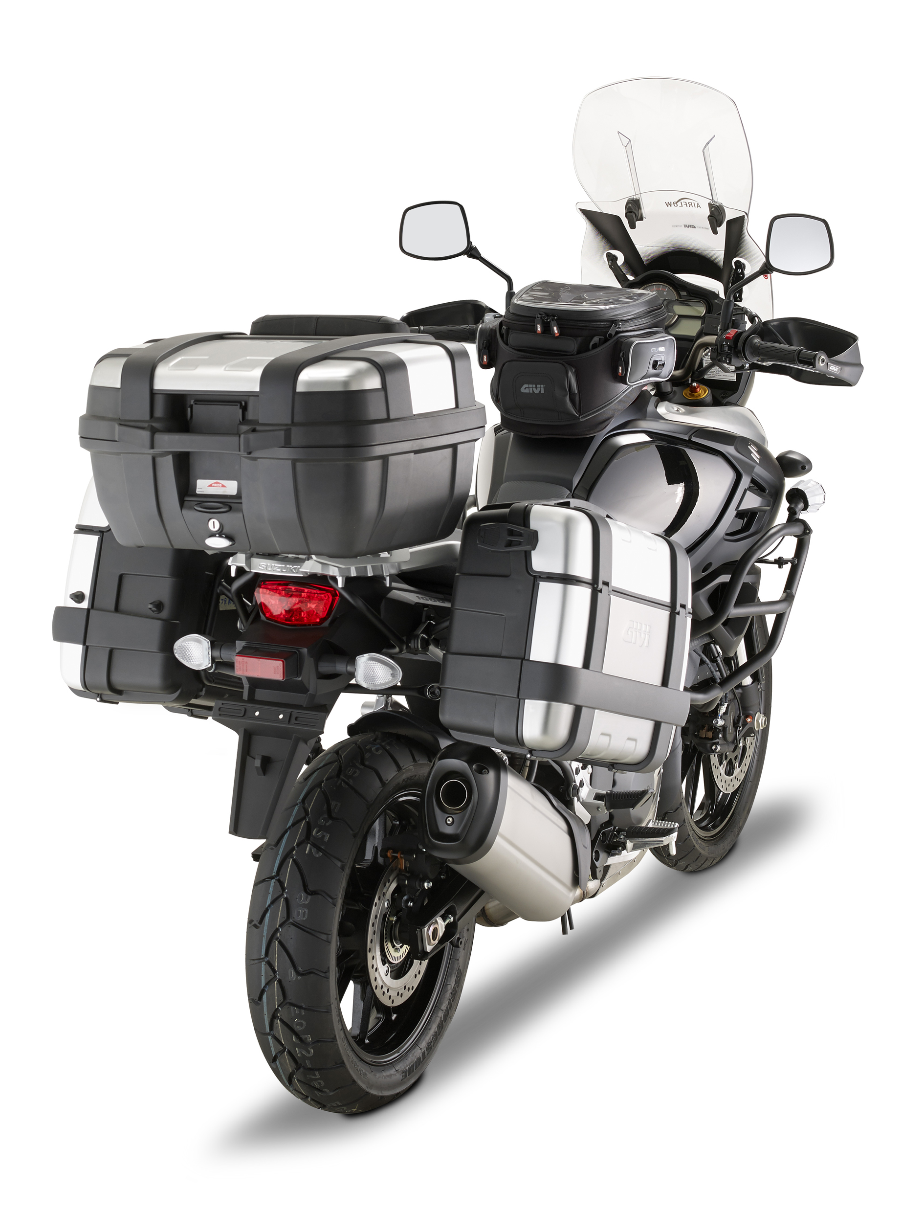 givi release photos of v-strom 1000 2014 accessories | a pair of