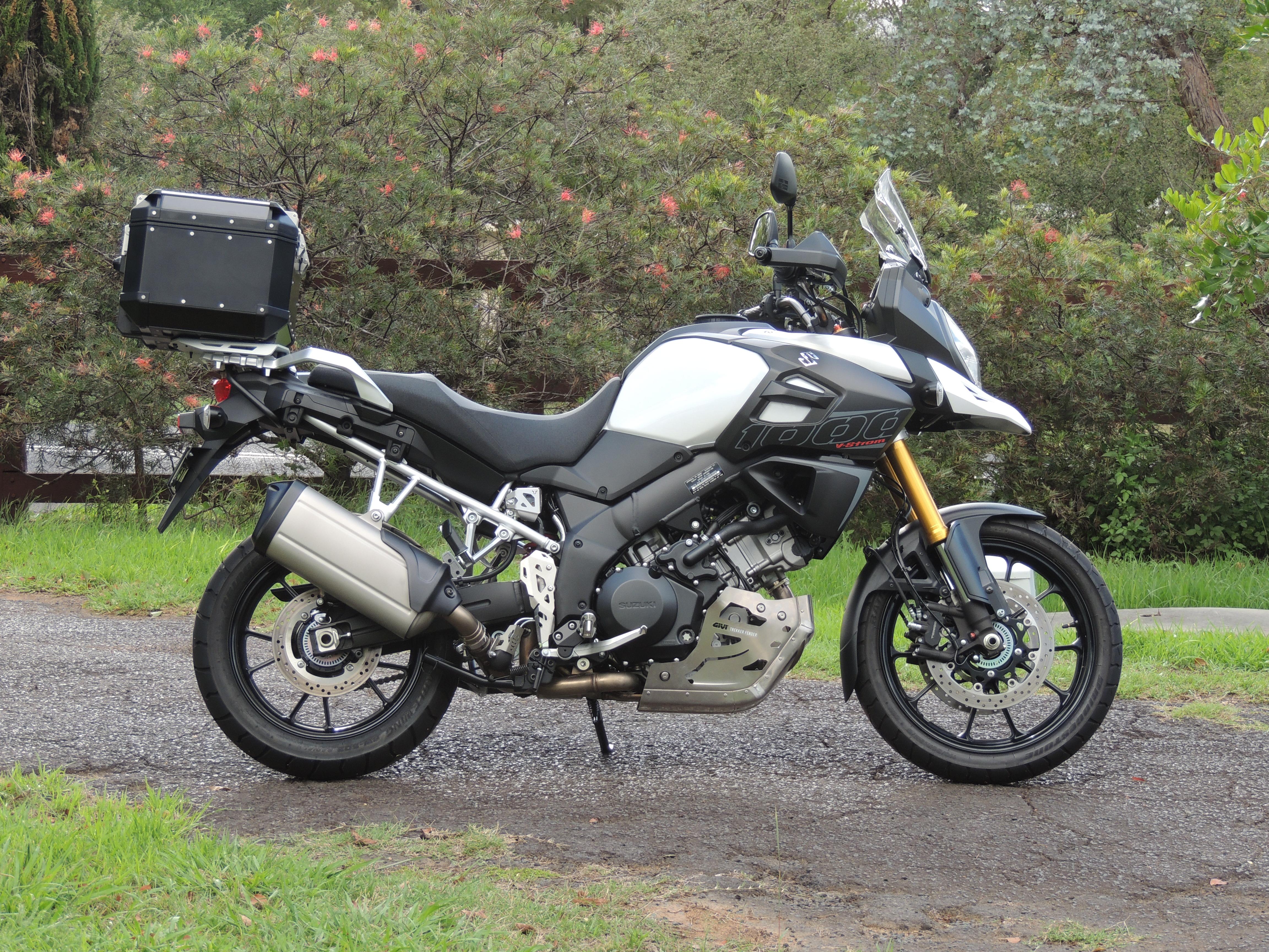 Black Givi Trekker Outback 42 Litre Case Installed Onto